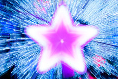 Abstract blur star x-mas on background. Royalty Free Stock Photos