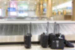 Abstract blur Suitcases and  luggage band Royalty Free Stock Photos