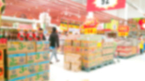 Abstract blur supermarket Royalty Free Stock Images