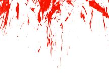 Abstract blur watercolor ink red drop splatter stain art paint on white background vector illustration