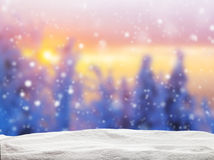 Abstract Blur Winter Background In Sunset Royalty Free Stock Photo