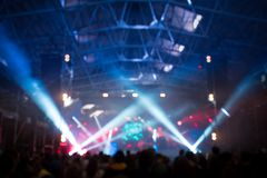 Abstract blured concert concept background stock photography