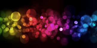 Abstract blured lights. Colorfull orizontal abstract blured lights Royalty Free Stock Photography