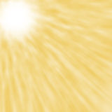 Abstract blured sun rays yellow background Royalty Free Stock Images