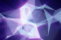 Abstract blured triangles background. Abstract bright aquamarine triangles with dark background. 3d rendering royalty free illustration