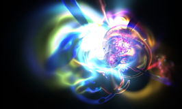 Abstract blurred an astronomical nebula magnetic Stock Photos