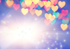 Abstract blurred background. (natural heart shaped bokeh stock illustration