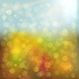 Abstract blurred background. Abstract background in autumn colors and light Royalty Free Stock Photography