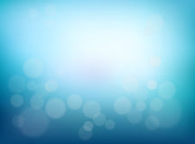 Abstract Blurred background. Blue gradient backdrop with bokeh effect. And a sunlight. Poster water backdrop. Vector royalty free illustration