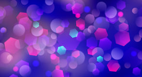 Abstract blurred background. With bokeh effect in blue colors Royalty Free Stock Photos