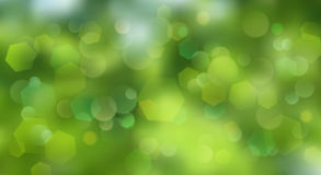 Abstract blurred background. With bokeh effect in green colors Stock Images