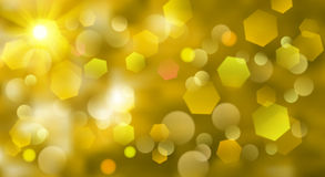 Abstract blurred background. With bokeh effect in yellow colors Stock Photo
