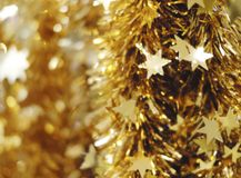 Abstract blurred background of christmas decoration royalty free stock photos
