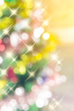 The abstract blurred background of sparkle Christmas tree, made with Stock Photos