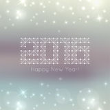 Abstract blurred background with sparkle stars. Abstract blurred vector background with sparkle stars. Happy New Year 2016. For decorations  festivals, xmas Stock Photography