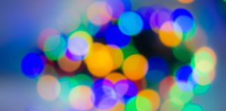 Abstract blurred background, spots of light-blue, green, yellow, stock photography