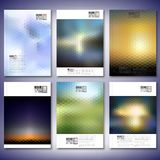 Abstract blurred backgrounds. Brochure, flyer or. Report for business, templates vector Stock Photos