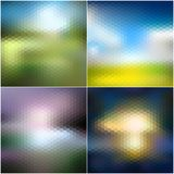 Abstract blurred backgrounds set, abstract Stock Image