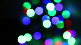 Abstract blurred blinked lights bokeh background. Abstract blurred blinked color lights bokeh background stock video