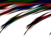 Abstract blurred blue red dark colors and background. Lines in motion. Abstract blurred colors and lines in motion, red, blue dark, green hues. Creative curves stock illustration