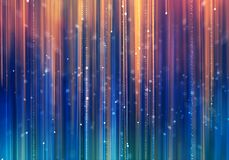 Glamour luxury background with colorful rays. Abstract blurred blue and yellow colorful rays moving opposite each other with colorful bokeh. Glamour luxury Stock Photography