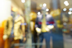 Abstract blurred bokeh background of shopping mall. Shallow depth of focus Royalty Free Stock Image