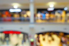 Abstract blurred bokeh background of shopping mall Stock Photography