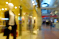 Abstract blurred bokeh background of shopping mall Royalty Free Stock Photography