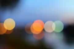 Abstract blurred bokeh colorfu beautiful in night view Stock Photography