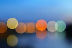 Abstract blurred bokeh colorfu beautiful in night view Stock Photos