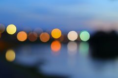 Abstract blurred bokeh colorfu beautiful in night view Royalty Free Stock Photos