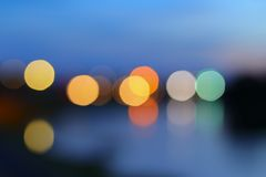 Abstract blurred bokeh colorfu beautiful in night view Stock Images