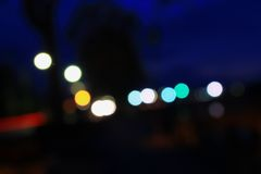 Abstract blurred bokeh colorfu beautiful in night view Royalty Free Stock Photo