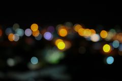 Abstract blurred bokeh colorfu beautiful in night view. Abstract blurred bokeh colorfu beautiful  in night view, with copy space Stock Image