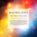 Abstract blurred bokeh effect background. Vector illustration stock illustration