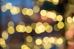 Abstract Blurred Bokeh Holiday Background. Festive background with natural bokeh and bright golden lights. Vintage Magic background with colorful bokeh. Spring Royalty Free Stock Photo