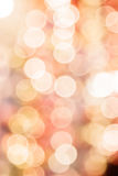 Abstract blurred bokeh light in warm tone Stock Photos