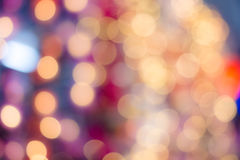 Abstract blurred bokeh light in warm tone Stock Photography