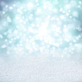 Abstract blurred bokeh with snow texture copy space background Royalty Free Stock Images