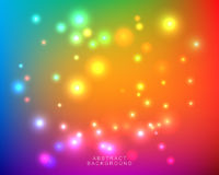 Abstract blurred bright colorful background. Abstract blurred bright colorful gradient mesh background with color lights. Vector illustration royalty free illustration