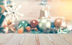 The abstract blurred of Christmas decoration background, Template mo Stock Photo