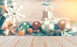 The abstract blurred of Christmas decoration background, Template mo Stock Image
