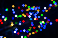 Abstract blurred christmas lights background Royalty Free Stock Images