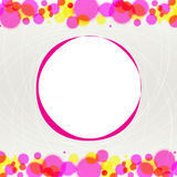 Abstract blurred circles on light background Royalty Free Stock Photography