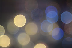 Abstract  blurred circular bokeh lights. Background Royalty Free Stock Images
