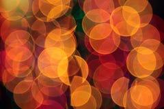Abstract blurred circular bokeh lights Royalty Free Stock Image