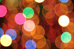 Abstract blurred circular bokeh lights Stock Images