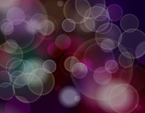 Abstract blurred circular bokeh lights background Royalty Free Stock Images