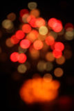 Abstract blurred circular lights bokeh, christmas background Royalty Free Stock Photo