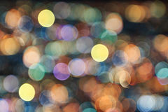 Abstract of Blurred city lights Royalty Free Stock Photos
